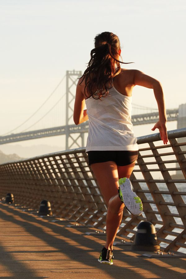 Running long distance or just a quick jog? One of the best running routes in San Francisco includes a view of the Golden Gate Bridge.  Get outside and show off your running style in Reebok ZPump Fusion, the running shoe that adapts to your foot.