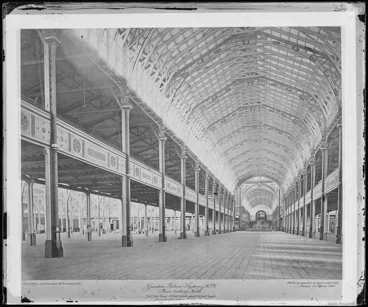 """Post- Exhibition, 1880 [NRS 4481 SH1384] """"Nave Looking North.  700 feet long. 50 feet wide and 60 feet high. Photograph taken 1st September 1880Inside view of the Ga"""