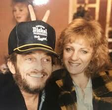 Merle Haggard and his wife