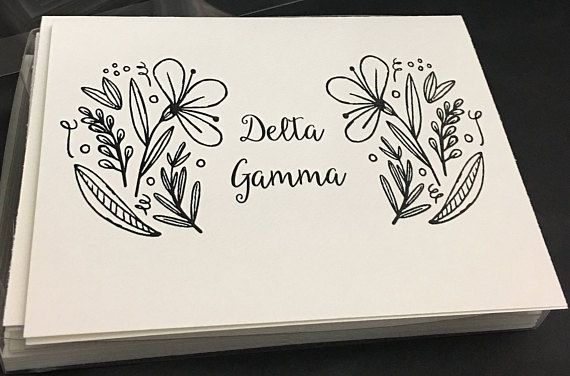 Delta Gamma DG | 12 Spring Coloring Notecards | Sorority Recruitment Bid Day Reveal | Big Little Gift | Study Break | Graduation | Greek