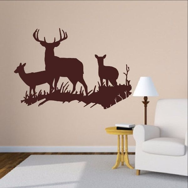 12 best images about deer vinyl wall decals on pinterest for Deer wall decals