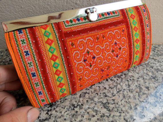Ethnic Vintage style Hmong Tribe purse Tribal Bag ,Boho and tote from Thailand