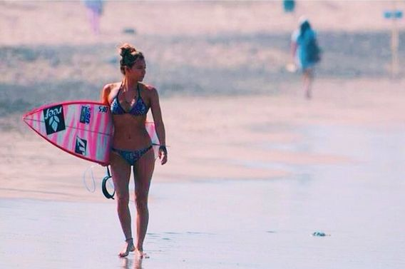 Get outside everyday. photo of Reef Ambassador and Professional Surfer Tia Blanco by ISA Surfing