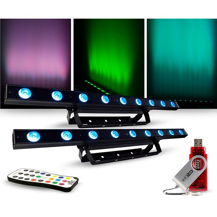 CHAUVET DJ Lighting Package with COLORband LED Effect Light, IRC-6 and D-Fi Controllers