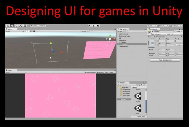 Designing UI for games takes some effort. And doing the same on mobile devices is very difficult. The variety of screen resolutions and dpis make the job not easy. Luckily, the guys that made Unity came up with a solution and that is Unity UI components. It is available from Unity 4.6 version.