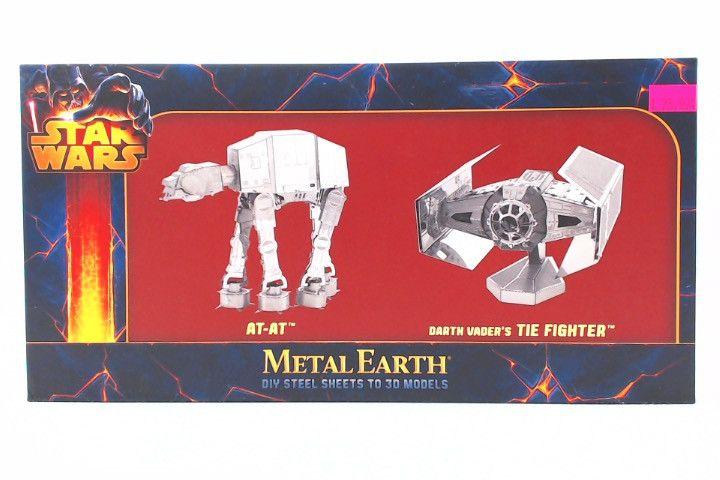Star Wars Metal Earth AT-AT And Darth Vader's Tie Fighter