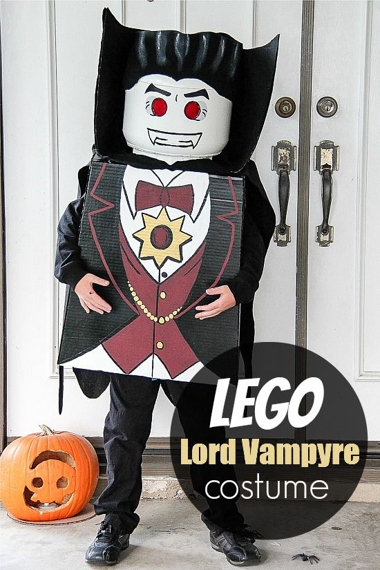 DIY LEGO Lord Vampyre Costume... OMG LOVE THIS! Have to do this next year!