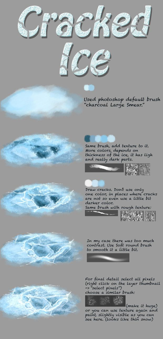 Ice tutorial by NThartyFievi on DeviantArt