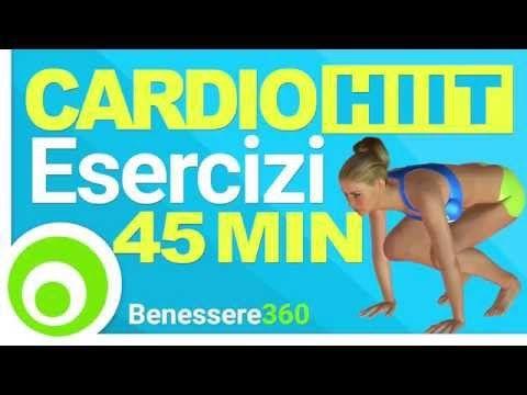 Allenamento Cardio HIIT ad Alta Intensità per Dimagrire Rapidamente - 40 Minuti - YouTube