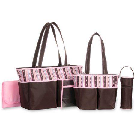 Baby Boom 5-in-1 Diaper Bag Set, Pink