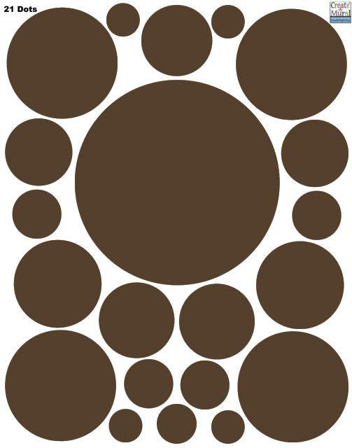 Polka Dot Decals- Chocolate Brown Wall Sticker