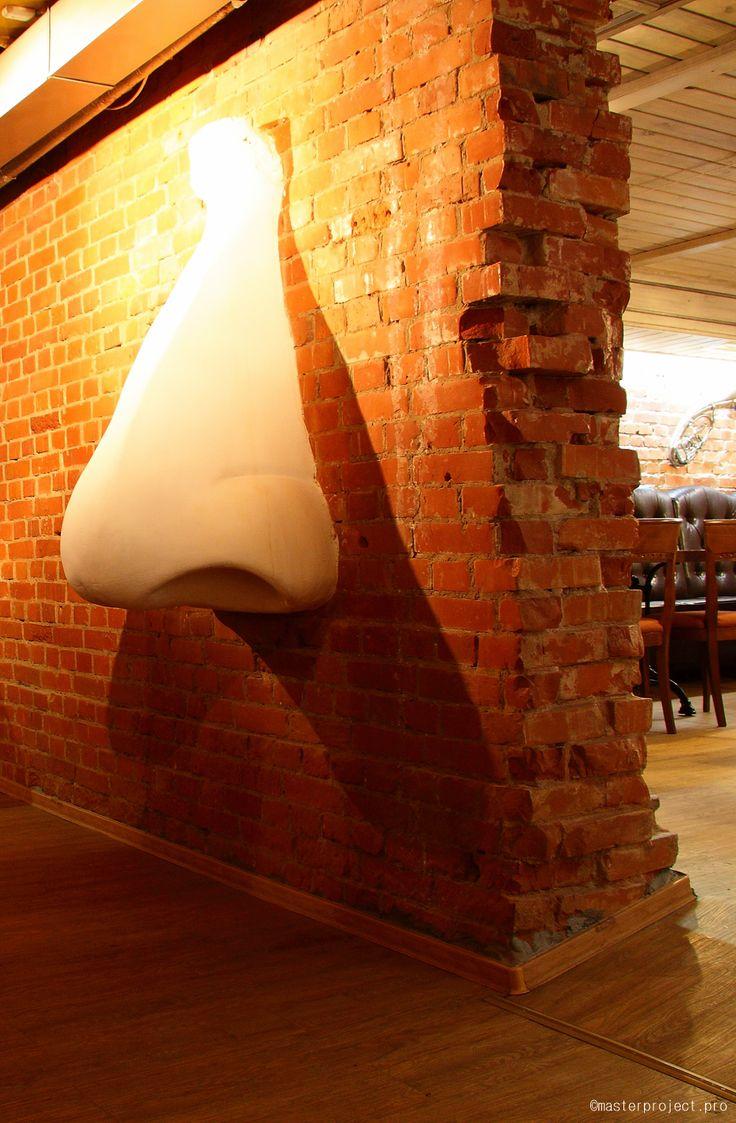 jazz, cafe, uderground, bar, music, interior, architecture, loft, Russia, Tomsk, Siberia, sculpture, nose
