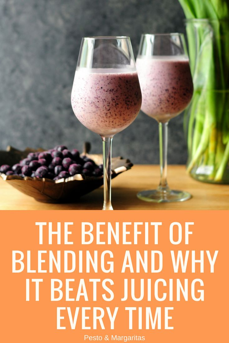 Blending is the way we make smoothies but is it a better option than simply juicing the fruit or vegetables?  And if you want to start with blending, how easy is it to do?  Here's a look at the benefits of blending and how to get started with a free breakfast smoothie recipe included #smoothies #blending #blender #smoothierecipe #breakfastsmoothie
