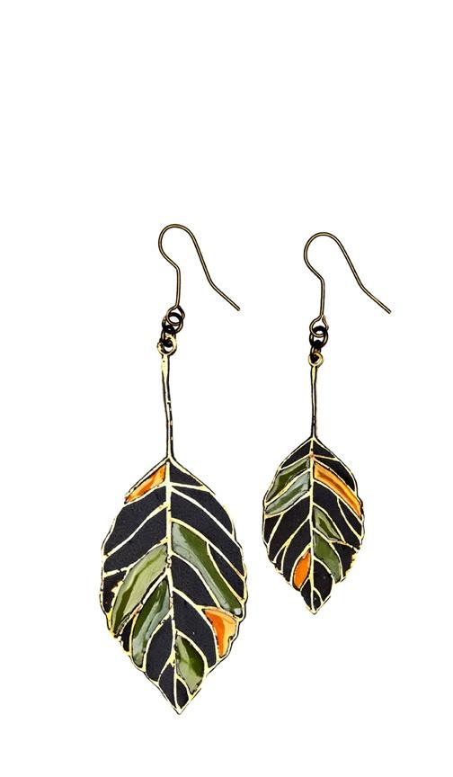 Leaf earrings - Plümo Ltd