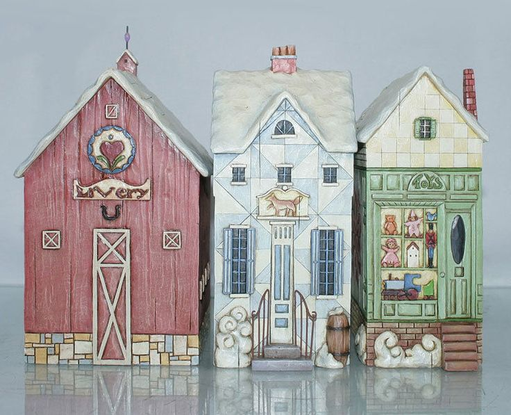 "Jim Shore ""Christmas Village"" Set of 3 Buildings | eBay"
