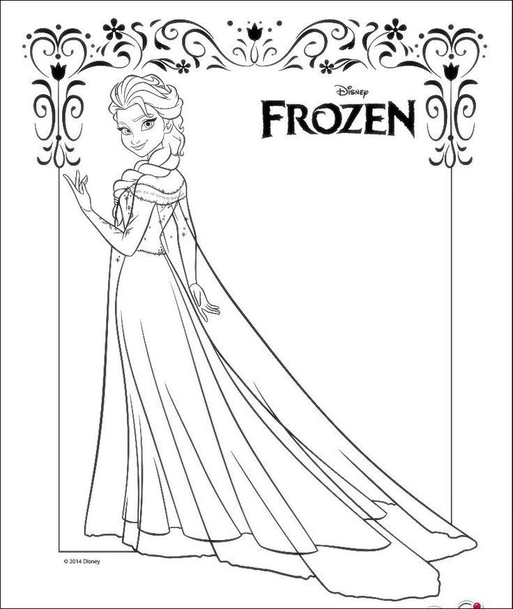 Bonito Princesa Para Colorear Páginas Congeladas Ana Friso - Ideas ...
