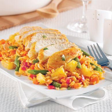 Casserole de poulet et riz à la noix de coco - Recettes - Cuisine et nutrition - Pratico Pratique