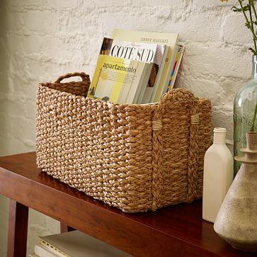 Braided Console Basket #westelm