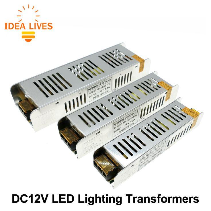 Conductor Del LED fuente de Alimentación AC220 a DC12V 60 W 120 W 200 W 240 W 360 W LLEVÓ el Adaptador de Iluminación transformadores