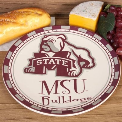 Mississippi State Bulldogs Game Day Round Ceramic Plate#UltimateTailgate and #Fanatics