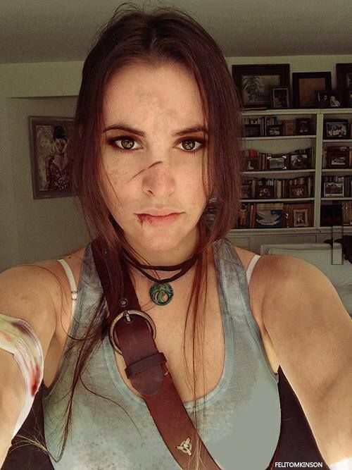 stage makeup for small cuts, bruises. this is Latra Croft cosplay but could work…