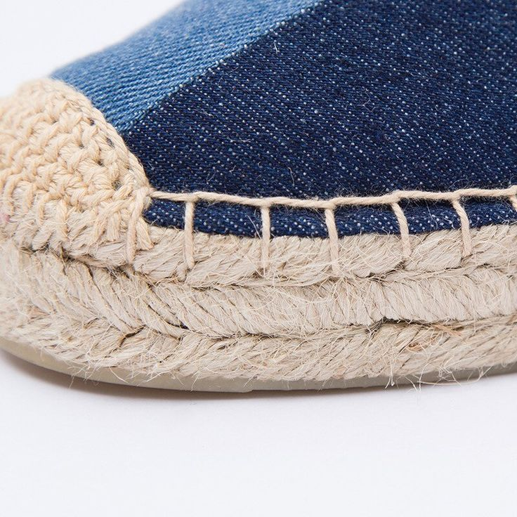 2019 spring summer women espadrilles slipper shoes denim patchwork design