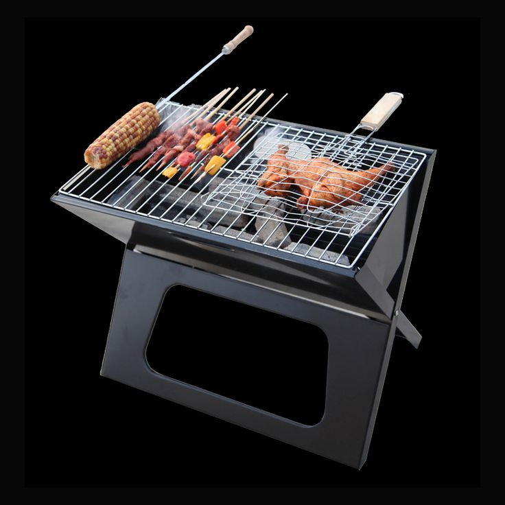 New BBQ Grils Folding burn oven outdoor stainless steel more portable BabeQ grill charcoal barbecue pits wild