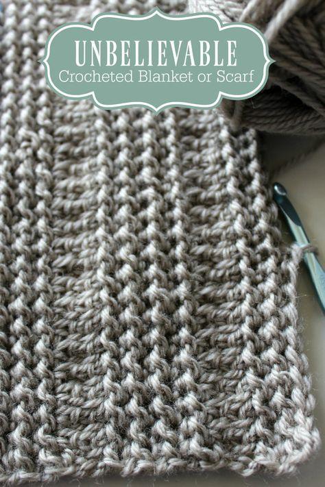 Download Now CROCHET PATTERN Unbelievable Crocheted Blanket