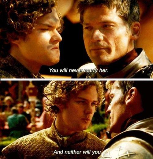 Finally the Jaime/Loras parallel