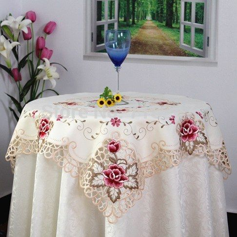 Cheap table cloth skirting, Buy Quality table cloths disposable directly from China table cloth importers Suppliers:  Welcome to visit us: http://www.aliexpress.com/store/718247   2014 Fall New Elegant Design 85*85cm Polyester