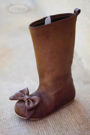 """""""Maci Brown Boots"""" by Joyfolie at Return To Eden - Children's Designer Clothing. Price: NZ $130.00"""