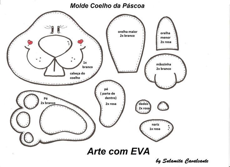 Transformando em Artes: Molde Coelho da Páscoa!!!