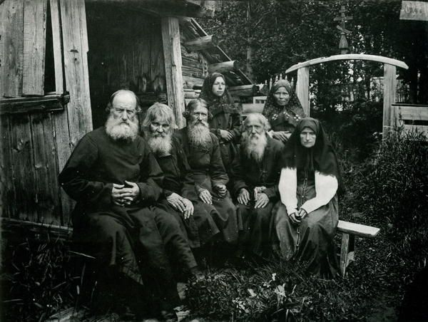 Types of Old Believers.  Russian Empire in the XIX century.