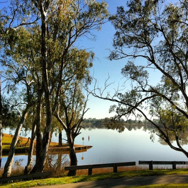 Beautiful lake Nagambie. Definitely worth a day trip.