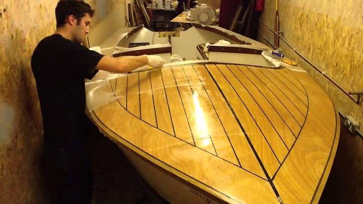 Time Lapse Epoxy Sheathing Plywood Boat Decks