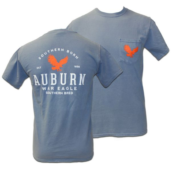 T shirt comfort colors southern bred auburn university for Auburn tigers football t shirts