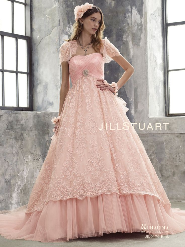 ガーリー&ヴィンテージ♡ピンクのエンパイア ウェディングドレス・花嫁衣装・カラードレスのまとめ一覧♡