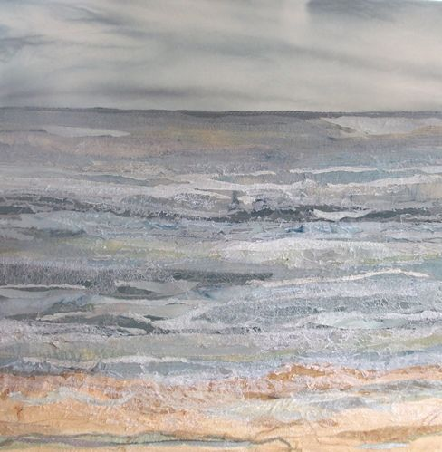 Summer Tide -Judith Reece; textile on canvas