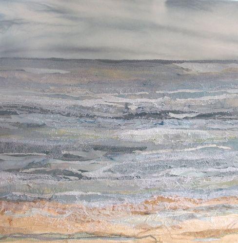 Summer Tide -Judith Reece; textile on canvas