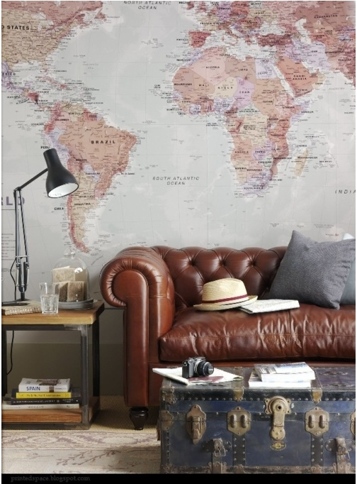 this is basically my living room-- sub grey for brown couch and a blue trunk!