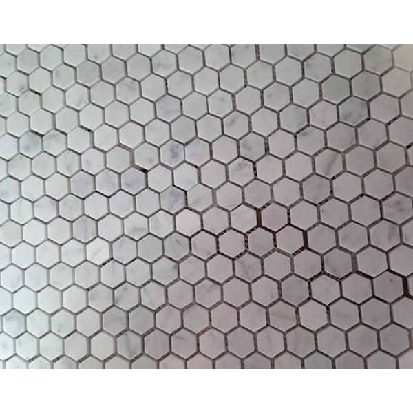 2 Heksagon Carrara Marmur Heks Taflowy Backsplash Płytki do dekoracji kuchni i łazienek