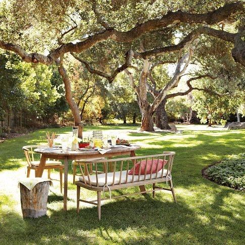 partytime in the garden!: Westelm, Outdoor Dining, Outdoor Living, Parks Benches, Outdoor Sets, Outdoor Area, Dining Tables, West Elm, Outdoor Eating