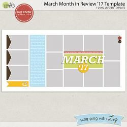 March Month in Review '17 Template