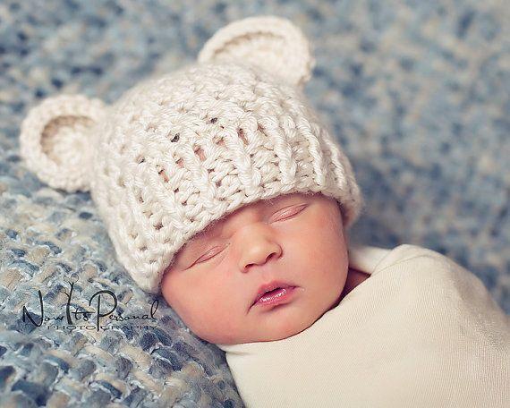 Bebé osito gorrito - el punto se me hace muy grueso, hacerlo un poquito mas delicado, pero las orejitas estan super