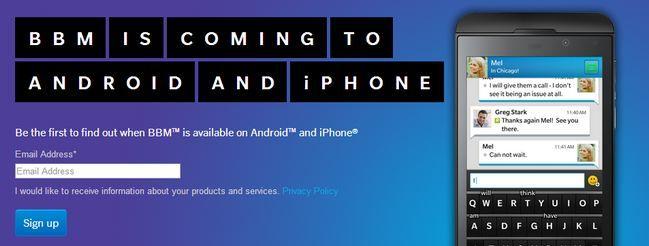Blackberry Messenger estará disponible para Android el 21/9 y para iOS el 22/9