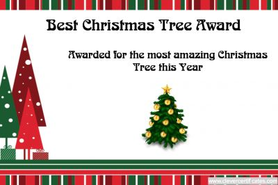 11 best christmas certificate templates images on pinterest best christmas tree award template at clevercertificates free to customize and yelopaper Gallery