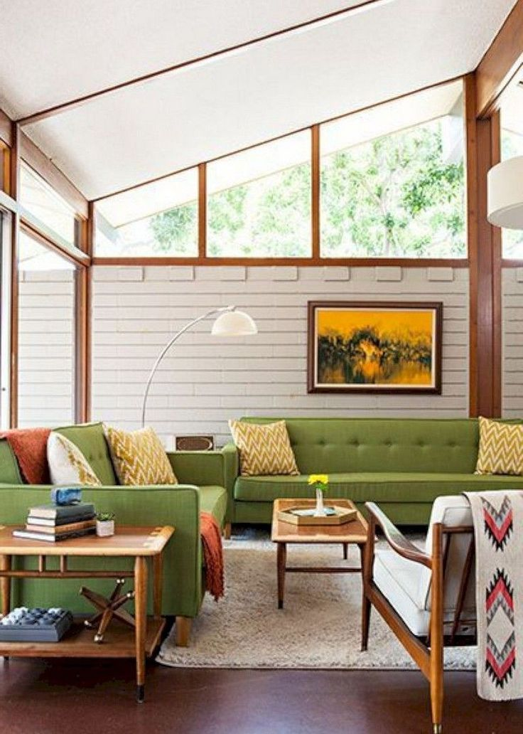 52+ Amazing Mid Century Living Room Decor Ideas #c…