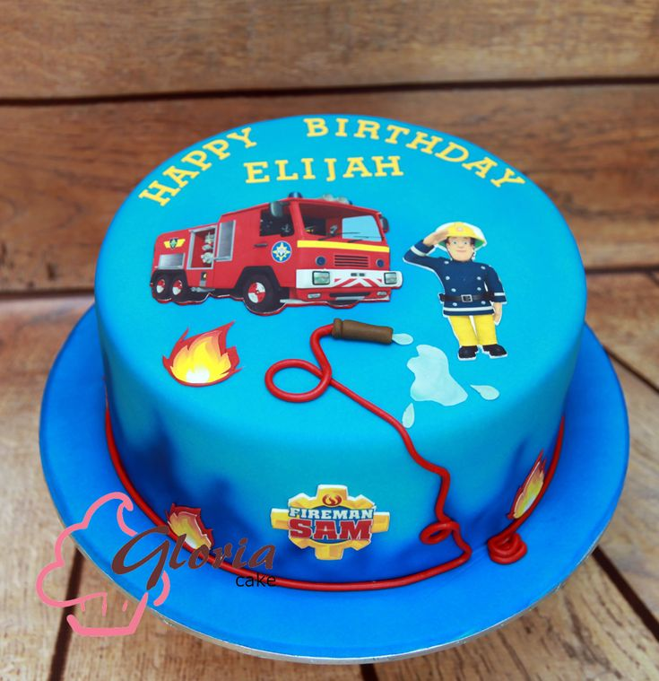 I would put a Marshall Paw Patrol in place of the Fireman Sam character. Then on the base of cake change it to sae Child's name or to say Paw Patrol!