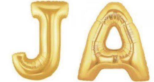 folienballons buchstaben ja hochzeit gold  buchstaben