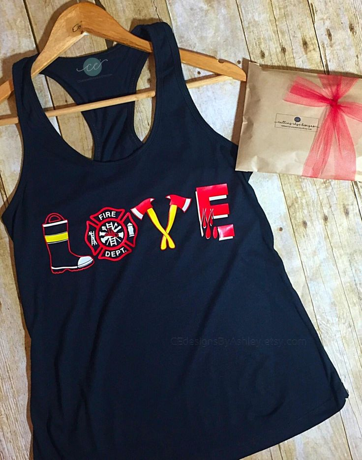 Fire wife, fire Love Racerback Tank Top - fire wife - love - cute tank - firefighter - love fireman - fire tank - fire love shirt